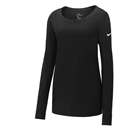 Nike Ladies Core Cotton Long Sleeve Scoop Neck Tee. NKBQ5235