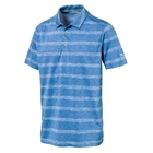 PUMA Men's Pounce Stripe Golf Polo Cresting