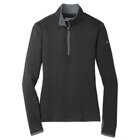 Nike Women's Dri-Fit 1/4 Zip - Black/Dark Grey