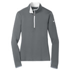 Nike Women's Dri-Fit 1/4 Zip - Dark Grey/White