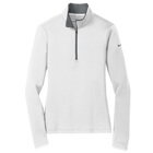 Nike Women's Dri-Fit 1/4 Zip - White/Dark Grey