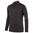 Augusta Youth Intensify Black Heather 1/4 Zip Pullover