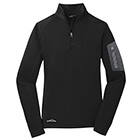 Eddie Bauer Ladies 1/2-Zip Performance Fleece - Black