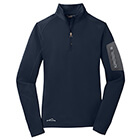 Eddie Bauer Ladies 1/2-Zip Performance Fleece - River Blue