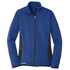 Eddie Bauer Women's Full-Zip Heather Stretch Fleece Jacket - Blue Heather