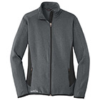 Eddie Bauer Women's Full-Zip Heather Stretch Fleece Jacket - Dark Charcoal Heather