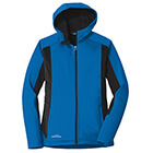 Eddie Bauer Women's Trail Soft Shell Jacket - Expedition Blue/ Black