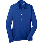 Nike Women's Dri-Fit Tech Long Sleeve Polo - Blue Sapphire