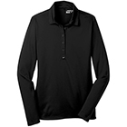 Nike Women's Dri-Fit Tech Long Sleeve Polo - Black