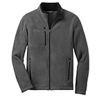 Eddie Bauer Men's Full-Zip Fleece Jacket - Grey Steel