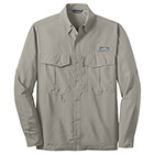Eddie Bauer Men's Long Sleeve Performance Fishing Shirt - Driftwood