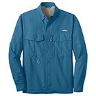 Eddie Bauer Men's Long Sleeve Performance Fishing Shirt - Gulf Teal