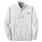 Eddie Bauer Men's Long Sleeve Performance Fishing Shirt - White