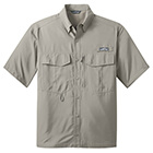 Eddie Bauer Men's Short Sleeve Performance Fishing Shirt - Driftwood
