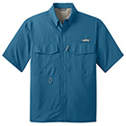 Eddie Bauer Men's Short Sleeve Performance Fishing Shirt - Gulf Teal