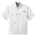 Eddie Bauer Men's Short Sleeve Performance Fishing Shirt - White