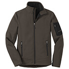 Eddie Bauer Men's Rugged Ripstop Soft Shell Jacket - Canteen Grey/ Black