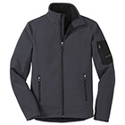 Eddie Bauer Men's Rugged Ripstop Soft Shell Jacket - Grey Steel/ Black