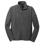 Eddie Bauer Men's Full-Zip Micro Fleece Jacket - Grey Steel