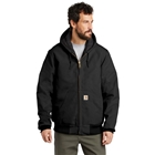 Carhartt Men's Tall Quilted-Flannel-Lined Duck Active Jacket - Black