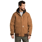 Carhartt Men's Tall Quilted-Flannel-Lined Duck Active Jacket - Carhartt Brown