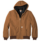 Carhartt Men's Quilted-Flannel-Lined Duck Active Jac - Carhartt Brown