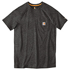Carhartt Force Cotton Delmont Short Sleeve T-Shirt - Carbon Heather